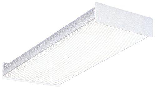 Lithonia Lighting Fluorescent Square 2 lamp, 2 feet, 120V Wraparound Light, 17W T8