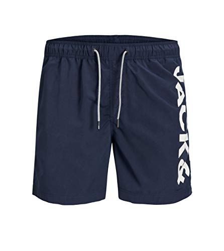 Jack & Jones Junior Jungen JJIARUBA JJSWIMSHORTS AKM Jones JR NOOS Badehose, Navy Blazer, 176