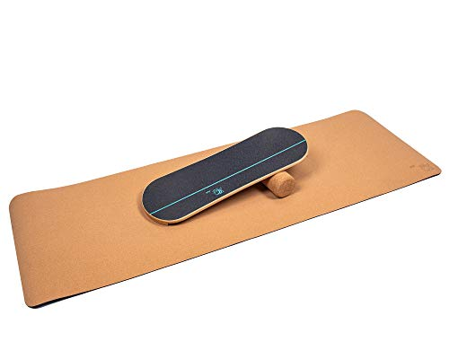 4TH Core Balance Board for Exercise Training-Board Exercise for Fitness with Roller- Board Balancing for Surf,Ski, Snowboard and Skateboarding