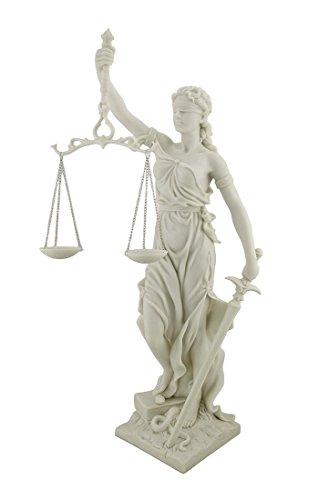 Veronese Lady Justice römischen Göttin Justitia Themis Statue Marmor-Finish