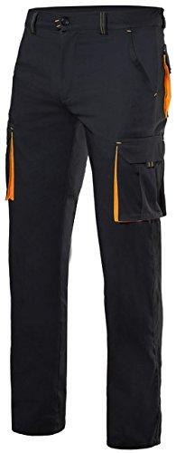 Velilla 103008S/C0-19/T42 Pantalones, Negro y naranja fluorescente, 42