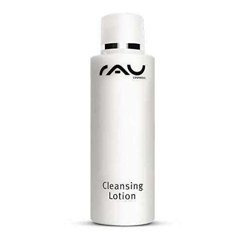 RAU Cleansing Lotion 200 ml - Sanfte & Beruhigende Reinigungslotion für die Tägliche Gesichtsreinigung - Augen-Make-Up & Schmutzpartikel weg, für normale bis trockene Haut mit Fruchtsäure