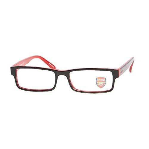 Arsenal FC Unisex volwassene Glass Frame brilmontuur op recept, zwart, 53.0