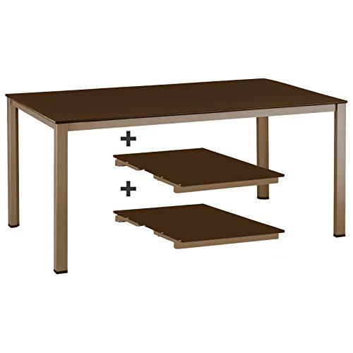 Kettler Ausziehtisch 159/219 / 279 cm in Bronze Mocca Gartentisch ohne Stuhl