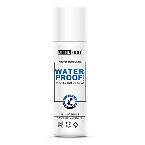 VITAL FOOT - 250 ml - Spray Nano Protector Agua Lluvia Impermeabilizante Calzado Zapato WaterProof