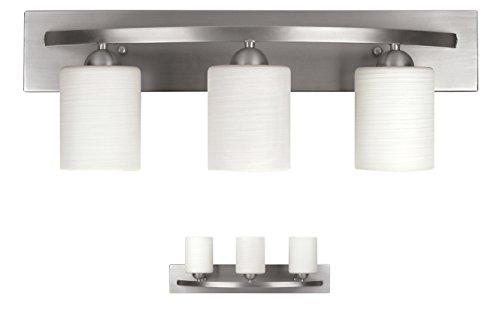 Bennington Lakeland 3-Bulb Bath Vanity Light Fixture Bar, Brushed Nickel