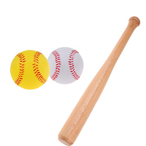 WENYOG Bate De BéIsbol Palillo de Bate de béisbol de 54 cm de Madera 9cm 2 unids PU de Espuma de Espuma Prueba Prueba