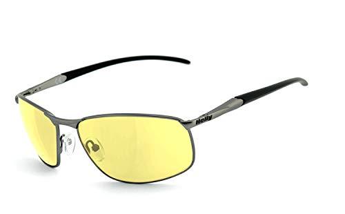 Preisvergleich Produktbild Helly® - No.1 Bikereyes® / Flex-Scharnier, UV400 Schutzfilter,  nachtsicht HLT® Kunststoff-Sicherheitsglas nach DIN EN 166 / Bikerbrille,  Sonnenbrille / Brillengestell: grau matt,  Brille: 620g