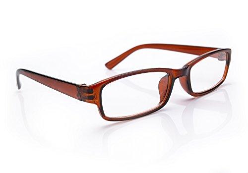 morefaz New Unisex (Damen Herren) Brown Retro Vintage Lesebrille Brille +0.50 +0.75 +1.0 +1.5 +2.0 +2.5 +3.00 +4.00 Reading Glasses (TM) (+0.75, Brown)