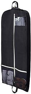 MISSLO Breathable 54 Suit/Dress Black Garment Bag with 2 Large Mesh Pockets