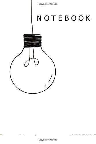 Notebook: light bulb 6x9 Inches A5 120 dotted paper