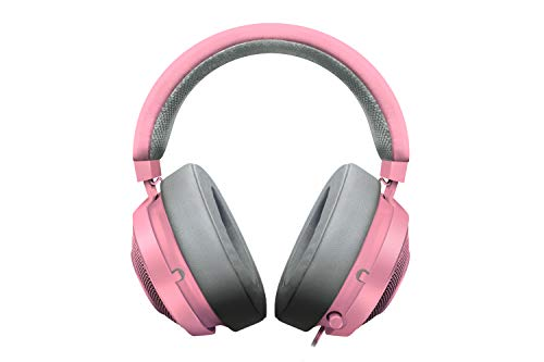 Headset Kraken Pro V2 Quartz, Razer, Microfones e Fones De Ouvido, Rosa