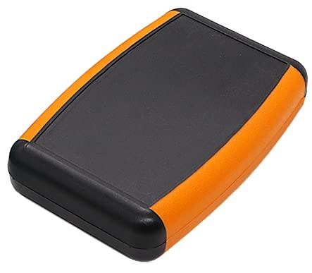 Boîtier en plastique ABS orange/marron avec compartiment à piles, boîtier électronique en plastique, petit boîtier, compteur, boîtier vide pour instruments par exemple Arduino ESP8266