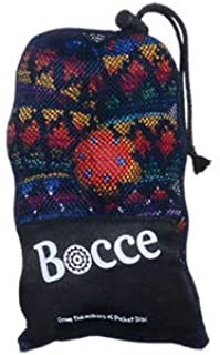 Mini Bocce Hacky Sack Game Kit - Crochet Footbag Hacky Sack Toss Games For Kids And Adults - Perfect For Camping Fun And Party Games - Includes 2 sets of 4 x Mini Hacky Sack Footbags and 1 x Bocce Bal