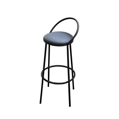 Tuqia Möbel Club barkruk, recreatiegebied resort hoge kruk met rugleuning sponskruk metalen houder barkruk hoge kruk (zwart) woonkamermeubels stoelen