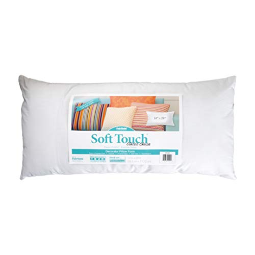 Fairfield Poly-Fil Premier Accent//Travel Pillow Insert 12 x 16 Pack of 2 White
