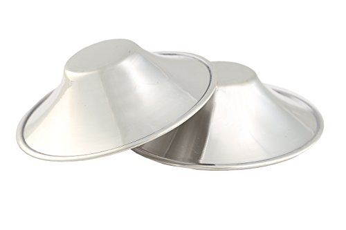 Paracapezzoli con argento prevenzione ragadi seno coppette per allattamento Bright Silver