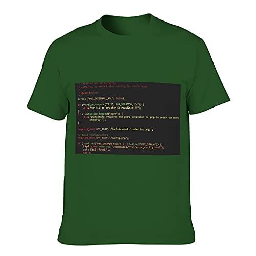 Camiseta de algodón para hombre que codifica el ajuste moderno popular - Tops de estilo