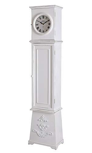 Palazzo Mxa084 - Reloj de pie con Compartimento Secreto, diseño Vintage, Color Blanco