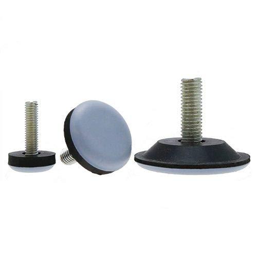 Vital Parts Teflon Adjustable Feet, Levelling Feet, Teflon Feet, Teflon Base Feet, Furniture Feet, Fixings, Screw in Feet, M10 x 30mm - 10 Pack