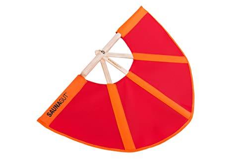 SAUNAGUT® Aufgussfächer (MINI/KLEIN, Orange-rot)