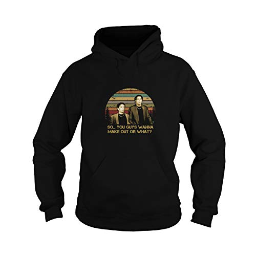 Zoko Apparel Unisex So You Guys Wanna Make Out Vintage Adult Hooded Sweatshirt (Black, 3XL)