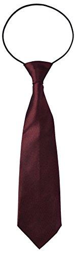 Miobo Krawatte Kinder Jungen mit flexiblem Gummiband  , Weinrot