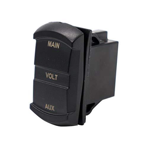 VOSAREA 10-60V LED Voltmètre De Voiture Numérique Double Affichage Jauge De Tension pour Voiture Moto Bateau Marine ATV RV