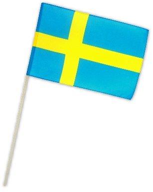 Fahne Flagge Schweden 30 x 45 cm mit Stab