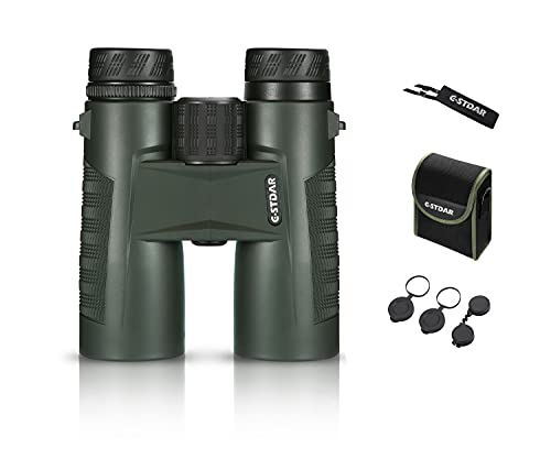 Binoculars for Adults Compact,C-STDAR High Power 10x42 Binoculars with BAK4 Prism, FMC Lens,Waterproof &Low Light Night Vision for Bird Watching,Travel,Hunting,Concerts & Football