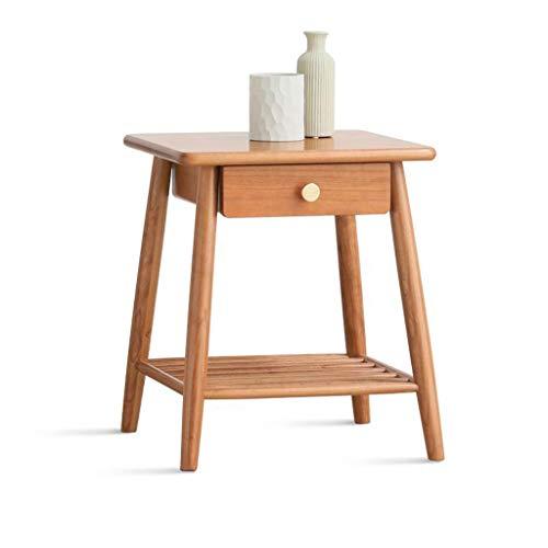 LYN eindtafel, bank bijzettafel, bijzettafel massief hout eindtafel Scandinavische salontafel met opbergruimte nachtkastje tafel kersenhout bank hoektafels