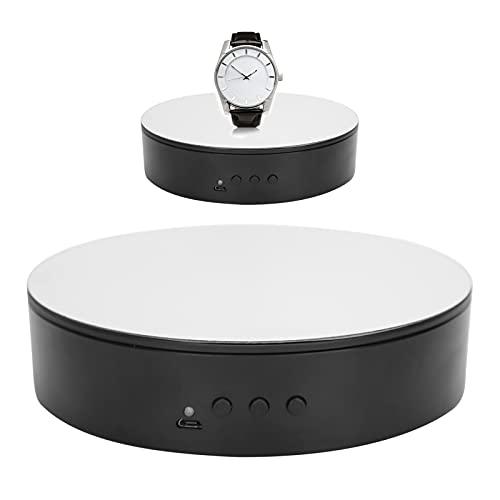 Soporte de exhibición giratorio, 5.9 '/15.0 kg de carga 360 grados de soporte de exhibición motorizado para productos de fotografía, joyas, reloj, modelos 3D, pastel