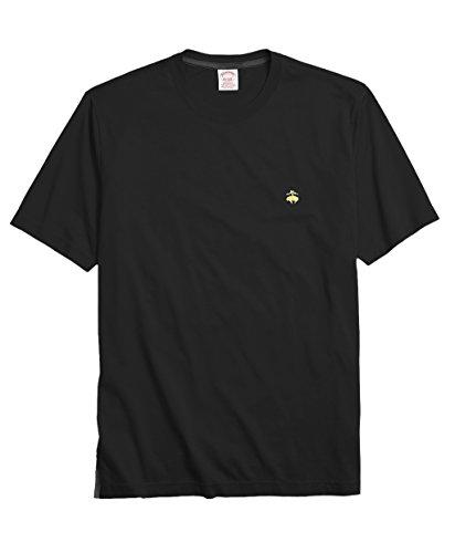 Brooks Brothers Men's Classic Fit 100% Cotton Crewneck Tee T-Shirt Black (Large)