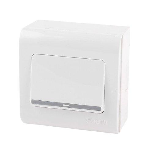 AC250V 10A Single Gang SPST Kunststoff Wandhalterung Panel Teller Switch