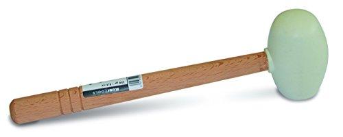 Rubi 66907 rubberen hamer, plat, rond, wit, 750 g