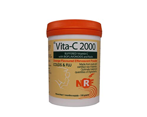 NRF Buffered Vitamin C 2000mg Powder | 150g | Ascorbic Acid | Non-GMO | Suitable for Vegans