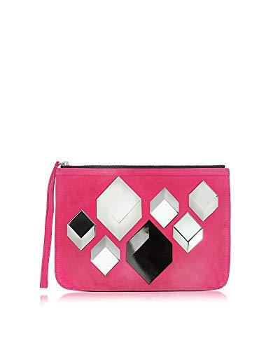 PIERRE HARDY Luxury Fashion Damen LW05 Fuchsia Wildleder Pouch | Frühling Sommer 20