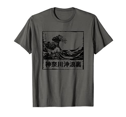 La gran ola de Kanagawa - Ukiyo-e japonés Camiseta