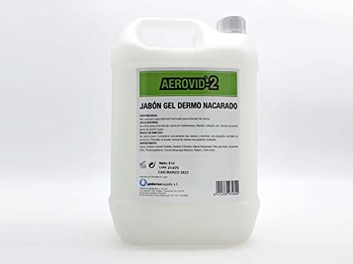 Jabón Gel Dermo Nacarado AEROVID - 2 . Botella 5 Lt. Gel jabón de uso corporal y para las manos.