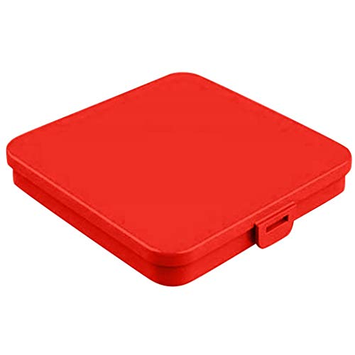 Aufbewahrungsbox für Masken, Aufbewahrung für Einweg Gesichtsmasken Behälter, Aufbewahrungsbox für Staubmasken, Aufbewahrungstasche für Masken, Faltbar, Leicht zu Reinigen (Rot)
