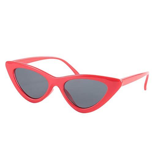 Gafas estilo vintage duraderas, para mujer(Red frame all gray film)