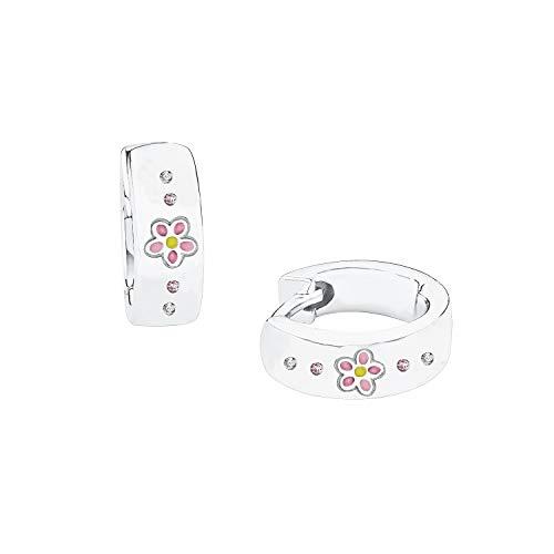 Prinzessin Lillifee Silber-Ohrringe für Kinder Creolen Blume Mädchen 2027909