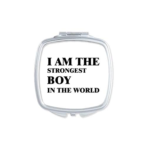 DIYthinker J'Amthe Strongest Boy Miroir carré Maquillage Compact Portable Mignon Miroirs de Poche à la Main Cadeau Multicolor