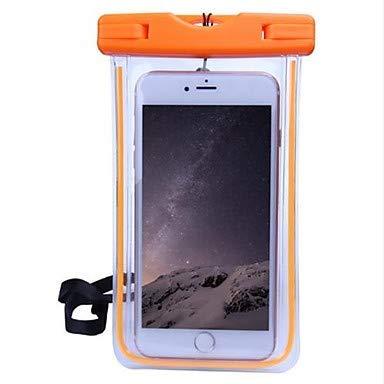 Fundas y fundas para teléfono móvil, funda universal impermeable y transparente, de PC suave de color sólido para iPhone X/iPhone 8/iPhone 7 (color naranja: modelos compatibles: iPhone 6S/6)