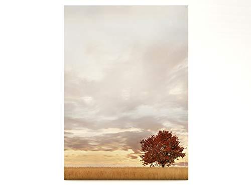 Briefpapier | Lonely Tree - Herbst-Baum | 100 Blatt Herbstliches Motivpapier DIN A4
