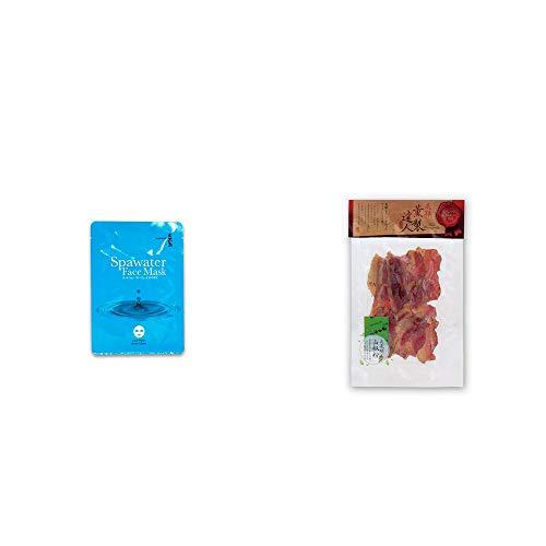 [2点セット] ひのき炭黒泉 スパウォーターフェイスマスク(18ml×3枚入)・薫製達人 豚バラベーコン燻製(60g)[飛騨山椒付き]