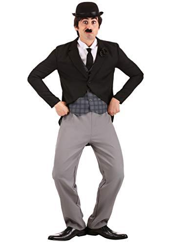 Disfraz de Charlie Chaplin para hombre - Negro - Large