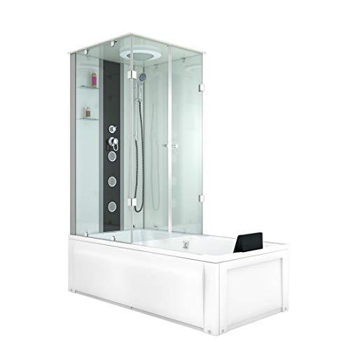 AcquaVapore DTP50-A002R Whirlpool Wanne Duschtempel Dusche Duschkabine 90x180 JA mit 2K Scheiben Versiegelung
