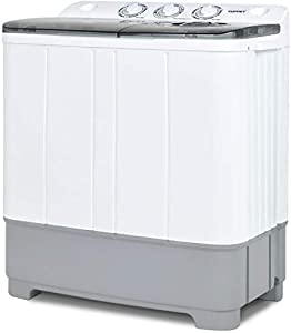 KUPPET Compact Twin Tub Washer Spin Dryer 13 lbs Capacity
