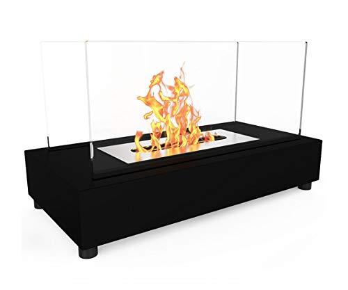 Moda Flame Vigo 通気口なし 卓上バイオエタノール暖炉 ブラック